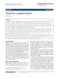 """báo cáo hóa học: """" Glutamine supplementation"""""""