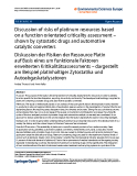 "báo cáo hóa học: ""  Discussion of risks of platinum resources based on a function orientated criticality assessment – shown by cytostatic drugs and automotive catalytic converters Diskussion der Risiken der Ressource Platin auf Basis eines um funktionale Faktoren erweiterten """