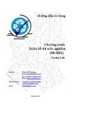 Hướng dẫn sử dụng McMIX Version 1.10