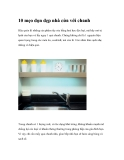 10 mẹo dọn dẹp nhà cửa với chanh