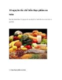 10 nguyên tắc chế biến thực phẩm an toàn