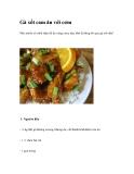 Gà xốt cam ăn với cơm