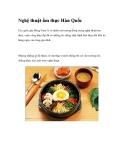Nghệ thuật ẩm thực Hàn Quốc