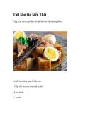 Thịt kho tàu kiểu Thái