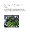 Top 11 thực phẩm tốt cho bạn gái ăn kiêng