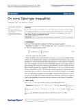 "Báo cáo hóa học: ""  On some Opial-type inequalities"""