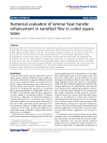 "Báo cáo hóa học: "" Numerical evaluation of laminar heat transfer enhancement in nanofluid flow in coiled square tubes"""