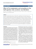 """Báo cáo hóa học: """"  Effect of Eu-implantation and annealing on the GaN quantum dots excitonic recombination"""""""