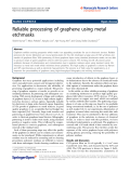 """Báo cáo hóa học: """"  Reliable processing of graphene using metal etchmasks"""""""