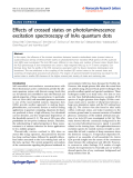 """Báo cáo hóa học: """"  Effects of crossed states on photoluminescence excitation spectroscopy of InAs quantum dots"""""""