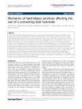 "Báo cáo hóa học: ""  Mechanics of lipid bilayer junctions affecting the size of a connecting lipid nanotube"""