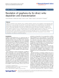 """Báo cáo hóa học: """" Revelation of graphene-Au for direct write deposition and characterization"""""""
