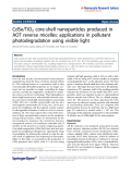 "Báo cáo hóa học: "" CdSe/TiO2 core-shell nanoparticles produced in AOT reverse micelles: applications in pollutant photodegradation using visible light"""