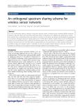 "Báo cáo hóa học: ""  An orthogonal spectrum sharing scheme for wireless sensor networks"""