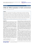 """Báo cáo hóa học: """"  CRLBs for WSNs localization in NLOS environment"""""""
