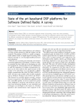 "Báo cáo hóa học: ""  State of the art baseband DSP platforms for Software Defined Radio: A survey"""