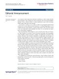 "Báo cáo hóa học: "" Editorial Announcement Ravi P Agarwal Correspondence: agarwal@fit.edu Florida Institute of Technology, USA"""