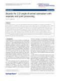 """Báo cáo hóa học: """" Bounds for 2-D angle-of-arrival estimation with separate and joint processing"""""""