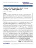 "Báo cáo hóa học: ""  Target estimation algorithm design using quantity data and target feature"""