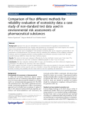 "Báo cáo hóa học: ""  Comparison of four different methods for reliability evaluation of ecotoxicity data: a case study of non-standard test data used in environmental risk assessments of pharmaceutical substances"""