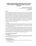 """Nghiên cứu khoa học """" NGHIÊN CỨU MỐI QUAN HỆ GIỮA HÌNH THÁI VỎ QUẢ VỚI CHẤT LƯỢNG HẠT GIỐNG LOÀI DẺ ANH (Castanopsis piriformis) """""""