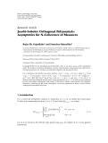 Báo cáo: Jacobi-Sobolev Orthogonal Polynomials: Asymptotics for N-Coherence of Measures