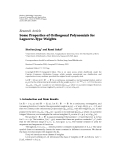 Báo cáo: Some Properties of Orthogonal Polynomials for Laguerre-Type Weights