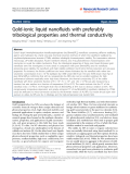 "Báo cáo y học: ""Gold-ionic liquid nanofluids with preferably tribological properties and thermal conductivity"""