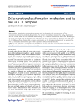 "Báo cáo hóa học: ""ZnSe nanotrenches: formation mechanism and its role as a 1D template"""