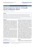 "Báo cáo hóa học: ""Enhanced plasmonic behavior of bimetallic (Ag-Au) multilayered spheres"""
