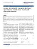 """Báo cáo hóa học: """"Efficient thermoelectric energy conversion on quasi-localized electron states in diameter modulated nanowires"""""""