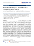 """Báo cáo hóa học: """" Thermal conductivity and thermal boundary resistance of nanostructures"""""""