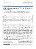 "Báo cáo hóa học: "" Combining scanning probe microscopy and x-ray spectroscopy"""