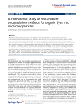 "Báo cáo hóa học: "" A comparative study of non-covalent encapsulation methods for organic dyes into silica nanoparticles"""