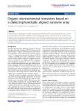 "Báo cáo hóa học: "" Organic electrochemical transistors based on a dielectrophoretically aligned nanowire array"""