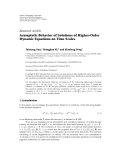 """Báo cáo hóa học: """" Research Article Asymptotic Behavior of Solutions of Higher-Order Dynamic Equations on Time Scales"""""""