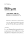 "Báo cáo hóa học: ""Research Article On the Derivatives of Bernstein Polynomials: An Application for the Solution of High Even-Order Differential Equations"""