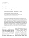 """Báo cáo hóa học: """"Review Article A Model-Driven Approach for Hybrid Power Estimation in Embedded Systems Design"""""""