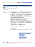 Dugelay EURASIP Journal on Image and Video Processing 2011, 2011:1