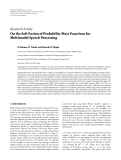 "Báo cáo hóa học: "" Research Article On the Soft Fusion of Probability Mass Functions for Multimodal Speech Processing"""