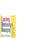The options coursecoaching mentoring and managing _1