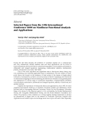 """Báo cáo hóa học: """"   Editorial Selected Papers from the 10th International Conference 2009 on Nonlinear Functional Analysis and Applications"""""""