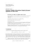 "Báo cáo hóa học: ""   Research Article Lyapunov Stability of Quasilinear Implicit Dynamic Equations on Time Scales"""