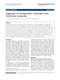 "Báo cáo hóa học: ""  Aggregate of nanoparticles: rheological and mechanical properties"""