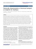 "Báo cáo hóa học: "" Nanoscale characterization of electrical transport at metal/3C-SiC interfaces"""