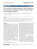 "Báo cáo hóa học: "" On the direct insulator-quantum Hall transition in two-dimensional electron systems in the vicinity of nanoscaled scatterers"""