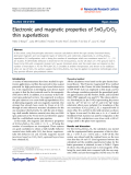 """Báo cáo hóa học: """"  Electronic and magnetic properties of SnO2/CrO2 thin superlattices"""""""