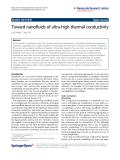 "Báo cáo hóa học: "" Toward nanofluids of ultra-high thermal conductivity"""