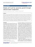 "Báo cáo hóa học: ""  Kinetics of Si and Ge nanowires growth through electron beam evaporation"""
