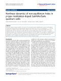 "Báo cáo hóa học: ""  Nonlinear dynamics of non-equilibrium holes in p-type modulation-doped GaInNAs/GaAs quantum wells"""